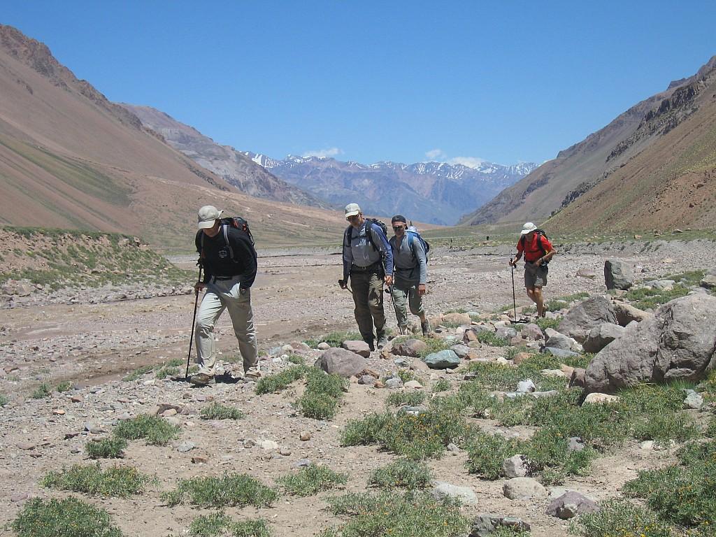 Argentine - Aconcagua - Glacier des Polonais
