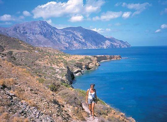 Grèce - Crète, balade en balcon sur la mer de Libye