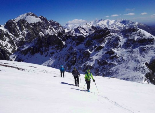 Maroc - Le M'Goun à ski