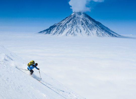 Russie - Ski de randonnée sur les volcans du Kamchatka