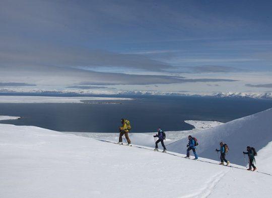Ski de randonnée au départ d'un bateau - Les matins du monde
